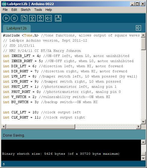 Lab 4Pre Arduino 2011