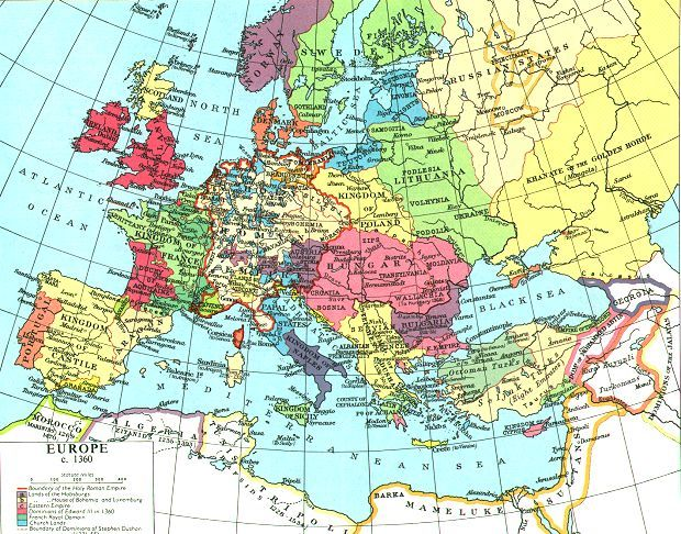Of europe 128k the map is adapted from muir s historical atlas
