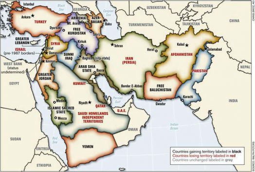 Curious Maps of the Middle East The New Middle East
