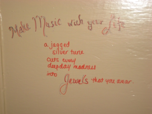 Bathroom Stall Poems i carry your heart