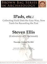 Brown Bag Series in Archaeology: Steven Ellis (University of Cincinnati):