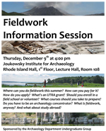 Archaeological Fieldwork Information Session