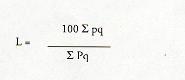 Laspeyres Index Formula
