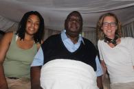 Left to right: Aidea Downie, Washington Okumu, Prof. Jacobs