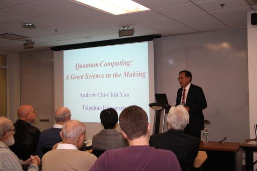 Dr. Yao presented this year's Paris C. Kanellakis Distinguished Lecture.