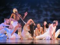 Brown students perform a piece choreographed by Gao Yanjinzi, artistic Director of the Beijing Modern Dance Company