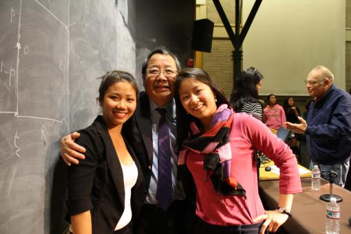 Jenna Cook and Jenni Lee met with Year of China Director Chung-I Tan following the screening.
