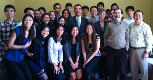 During Dr. Lin's visit students had the opportunity to discuss the state of China's economy, his economic theories, and the work of the World Bank.
