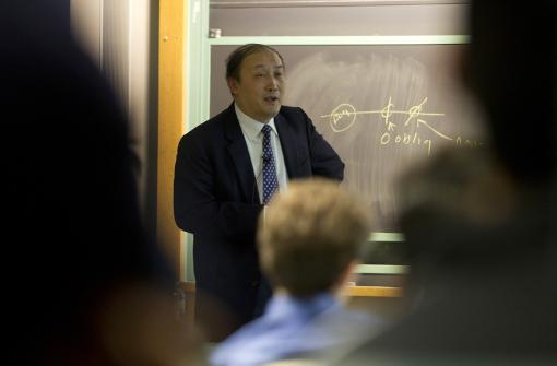 President Wei Yang of Zhejiang University visited Brown on October 24.  Photo credit: Mike Cohea/Brown University