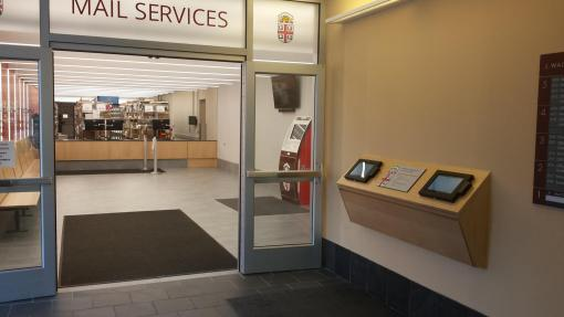 Mail Services Lobby entrance