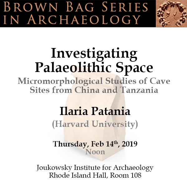 Brown Bag Series in Archaeology: Ilaria Patania (Harvard