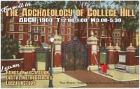 Archaeology of College Hill course poster