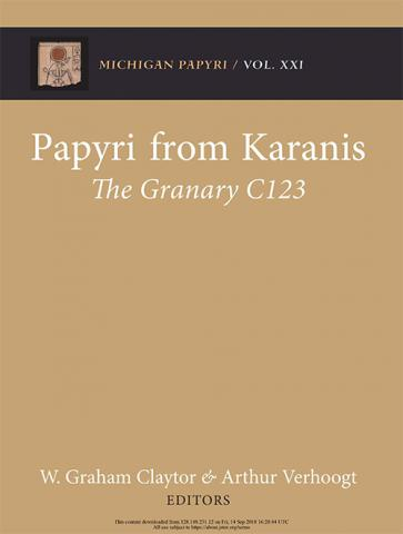 Papyri from Karanis: The Granary C123