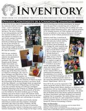 Fall 2019/Winter 2020 Issue of Inventory