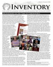 Spring/Summer 2020 Issue of Inventory, the newsletter of the Joukowsky Institute for Archaeology