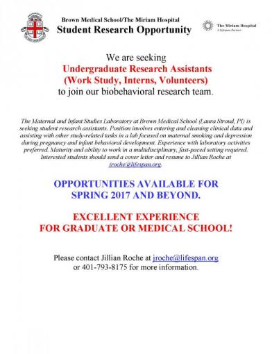 Brown Medical School/The Miriam Hospital Student Research Opportunity