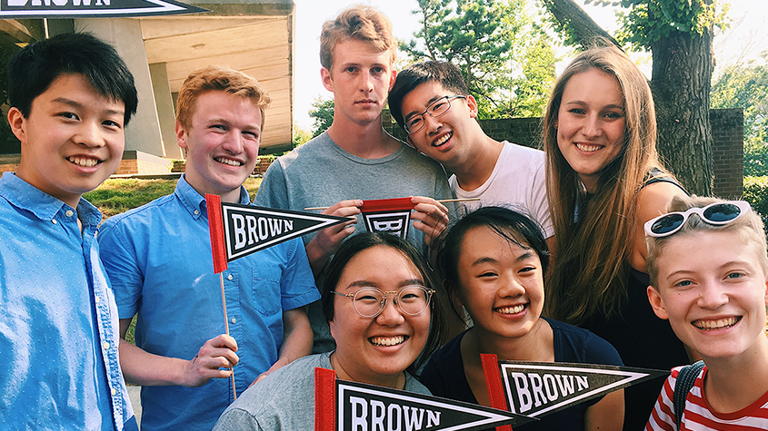 Students at Brown Convocation
