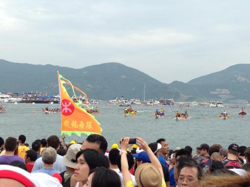 BEO interns join the celebration of Dragonboat Festival, a national holiday in Hong Kong, on Stanley Beach: Photo credit to Patrick O'Neill