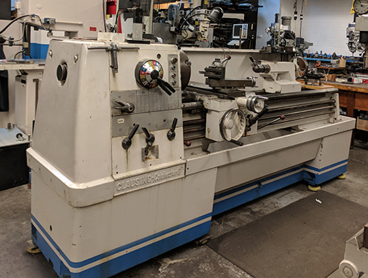 Lathe in the Machine Shop