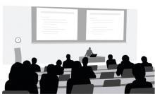 College lecture clipart
