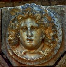 Leptis Magna Gorgon head