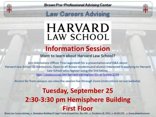 professional school fair and harvard law admission presentation