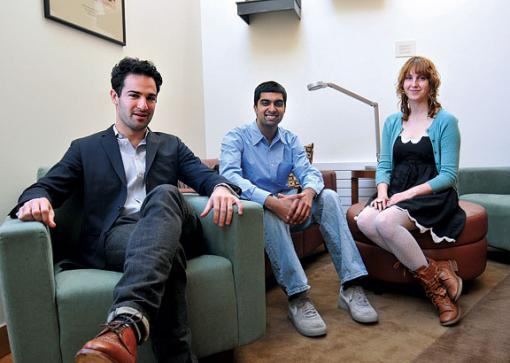 From left to right, David Poritz, Nabeel Gillani, Brianna Doherty. Not pictured, Emma LeBlanc