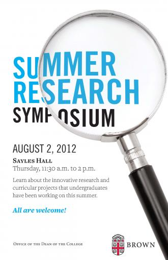 2012 Summer Research Symposium