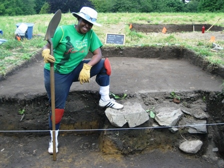 Ashley Greene, excavation supervised by Professor Sue Alcock
