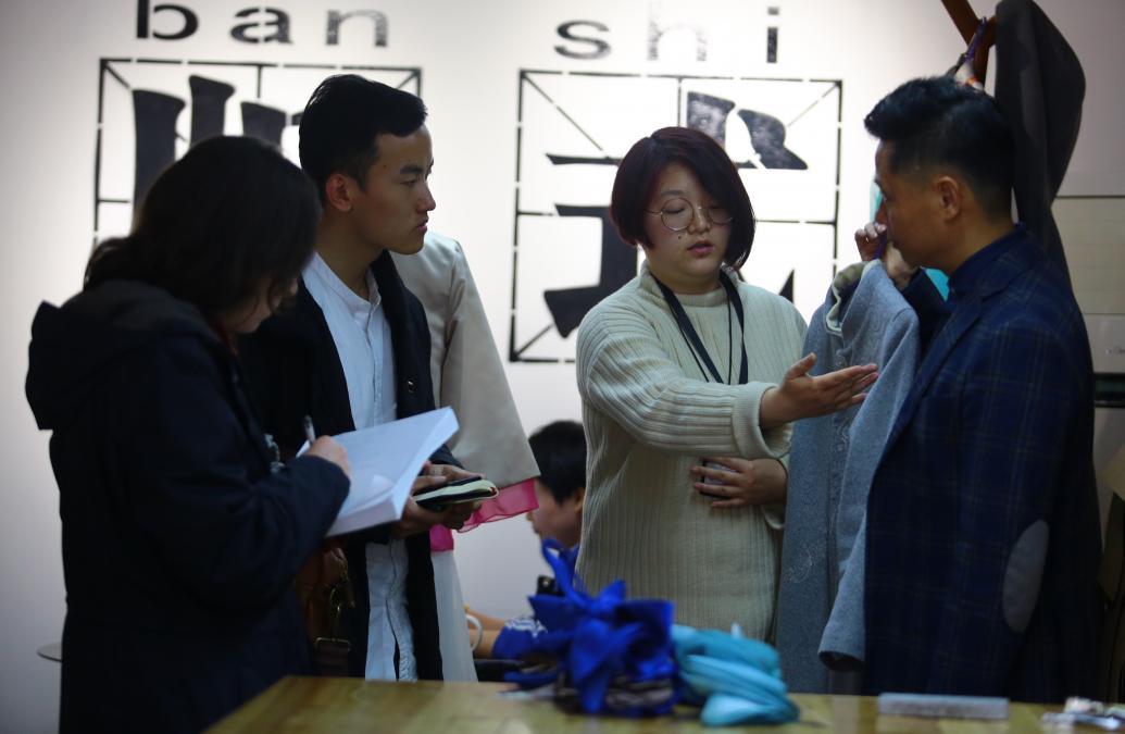 Sarah Nicita researches textile production in Xiangxi, China
