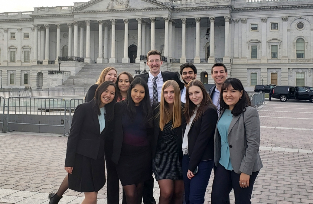 The seventh Brown in Washington cohort in front of the Capitol Building in D.C.