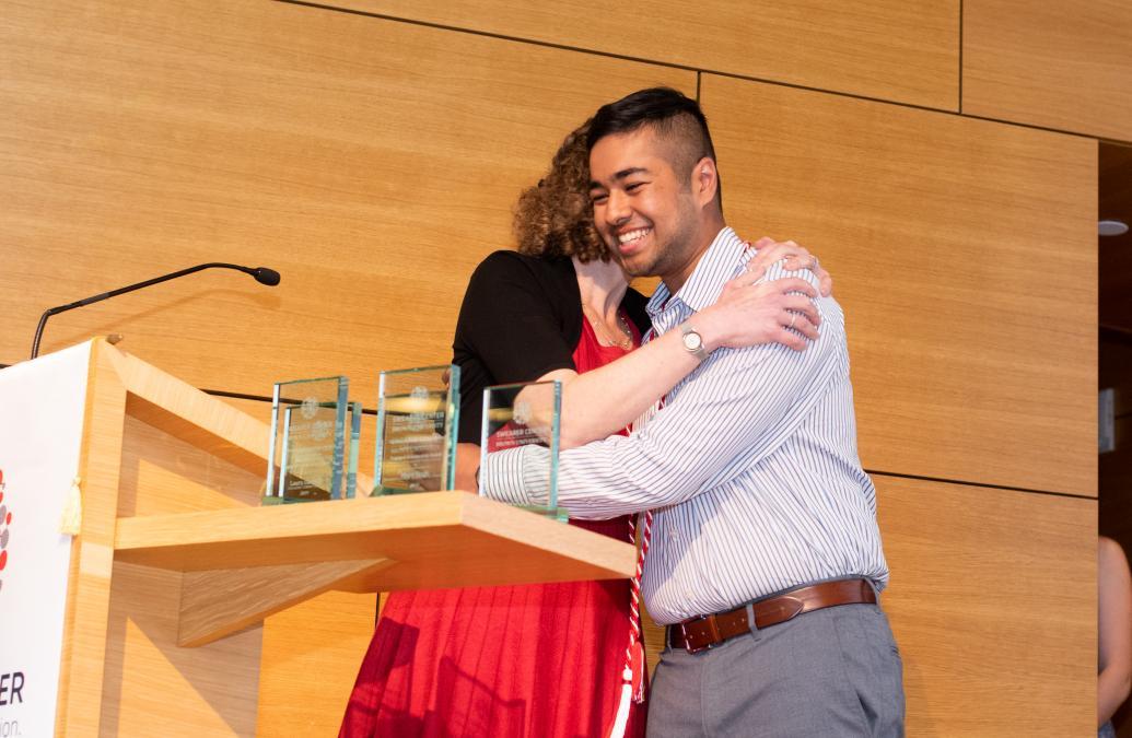 Fahim Mahmud '19 receives the Community Engagement Award