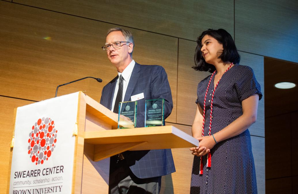 Maya Singh '19 receives the Engaged Scholarship Award (Undergraduate)