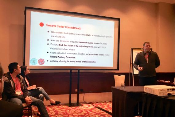 Mathew Johnson, Executive Director of the Swearer Center, presents at the Eastern Region Campus Compact: 2019 Biennial Conference