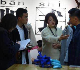 Sarah Nicita researches textile production in Xiangxi, China