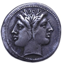 Roman coin from the Joukowsky Institute's numismatic collections