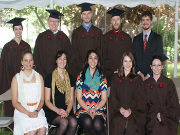Back row (l-r): Catherine Booth, Kenneth Ramsley, Michael Beach, Tabb Prissel, William Longo. Front row (l-r): Rebecca Fahringer, Samantha Bova, Stephanie Spera, Lauren Jozwiak, Stephanie Quintana