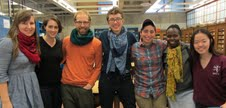 Dan pictured with his research group at Wellelsey