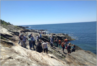 Beavertail! Field trip participants enjoy the picturesque scenery! Photo courtesy of Kathleen Cantner.