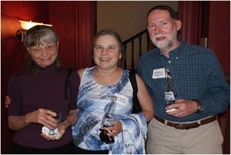 Jan with alums Gina Snyder '79 and Bo Garrison '79.