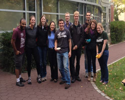 Photo: Undergrad concentrators enjoying the GeoDUG Ice Cream Social, October 2013