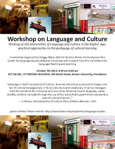workshop on lang. and culture