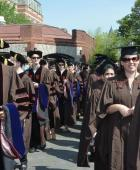 Graduates ready to walk.:
