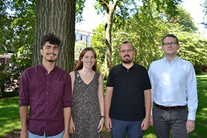 Pictured left to right: Felipe Brugues, Lauren Deal, Javier Fernandez Galeano, and Daniel McDonald