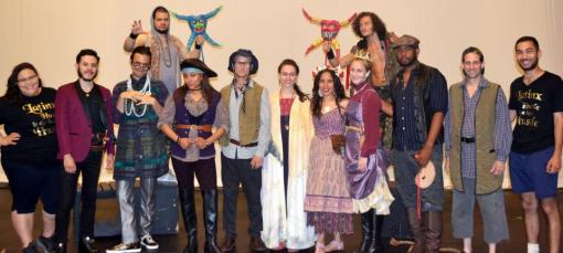 Members of the cast and crew for La Tempestad. Far left: Tatyana-Marie Carlo, far right: Orlando Hernandez