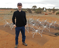 Adam Lanman and more than 200 other PhD students received summer travel funds. He went to Australia to help construct a radio telescope array used for astrophysical and cosmological research.