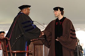 Nicholas W. Bellono, Molecular Pharmacology and Physiology, receives a Joukowsky Outstanding Dissertation Award at the May 2015 Commencement.