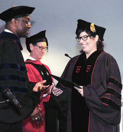 Marcela Margaret Louise Soruco (Molecular Biology, Cell Biology, and Biochemistry), receives a Joukowsky Outstanding Dissertation Award at the May 2014 Commencement.