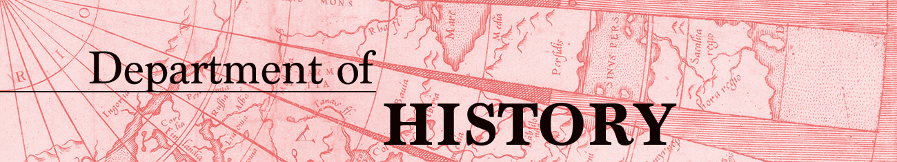 Site banner image for Department of History