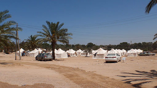 Displaced Persons Camp in Libya during Civil War